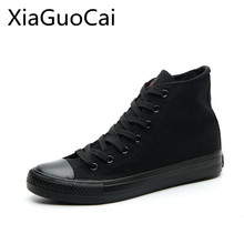 Brand Cheap High Quality Men Canvas Shoes Summer Solid High Top Unisex Sneakers