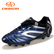 QIANDA Professional Breathable AG Turf Football Shoes Wear Long Spike Training Cleats Outdoor Soccer Boots Women & Men Sneakers