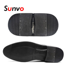 Sunvo Rubber Heels Anti-Slip Outsoles for Leather Business Shoes Boots Repair Shoe Bottom Sole Replacement Heel Cushion Non-slip(China)