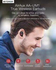 Image 2 - Para BlitzWolf brother AIRAUX AA UM1 auriculares inalámbricos Bluetooth 5,0 manos libres Hi Fi con micrófono estéreo auriculares impermeables en Stock