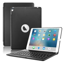 For New iPad Pro 10.5 Keyboard Case, Wireless Bluetooth Keyboard Smart Cover for iPad Pro 10.5 inch 7 Colors Backlit Stand Case цена