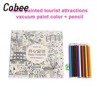 Coloring Books Graffiti Book Painting Books 1 Set Painting Portable School Supplies Universal W/ Specialty Pencils