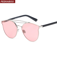 Peekaboo Yellow Red Tinted Sunglasses Women Brand Designer Clear Sun Glasses Female Male High Quality Uv400