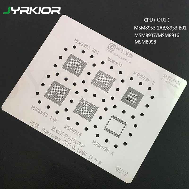 Jyrkior For Qualcomm MSM8953-B01 MSM8953-1AB MSM8937 MSM8998 MSM8916 QCOM MSM CPU BGA Reballing Stencil Plant Tin Steel Net