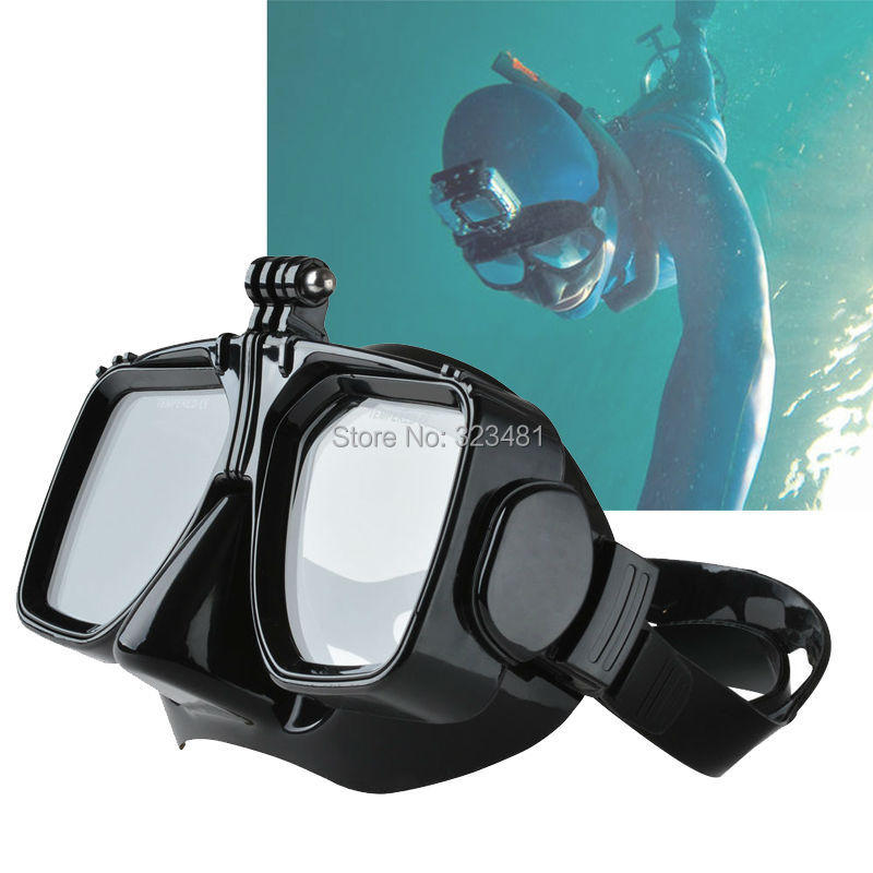 buy scuba diving mask equipment for surfing with holder for gopro sport camera. Black Bedroom Furniture Sets. Home Design Ideas