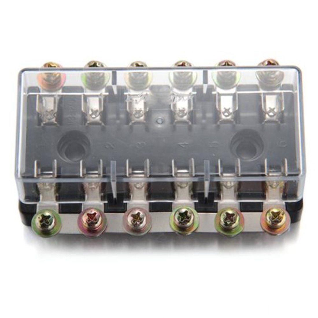 Marsnaska Universal 12v 6 Way Fusebox Fuse Blade Box Fuseholder Description6 Suitable For Agc And Jso Fuses1 In Out Maximum Load 90a 20a Per Wayvoltage Package Includes