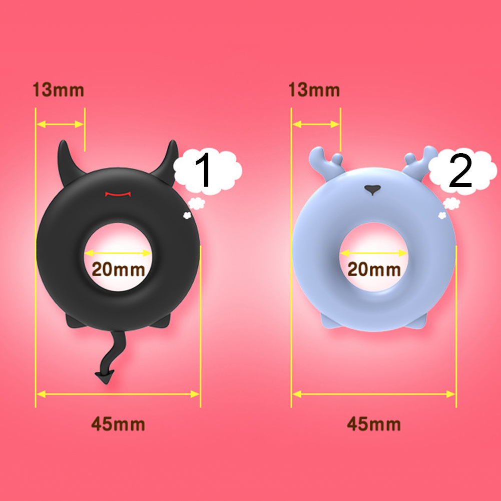 Soft Silicone Penis Ring Cock Lock Enlargement Extender Time Delay Men Sex Toy 1 3cm x 2cm x 4 5cm in Penis Rings from Beauty Health