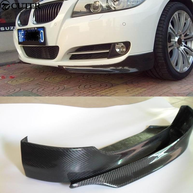 Carbon Fiber Front Splitters Spoilers for 2005-2009 BMW E90 E91 Standard Bumper