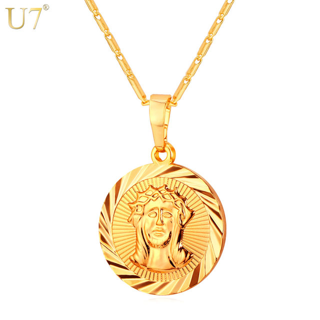 jesus spicyice grande necklace piece products tag gold