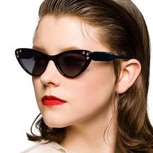 Brand Cat Design Women Sunglasses 2019 Vintage Luxury Eye Sun Glasses for Lady Pink Frame Rhinestone Fashion