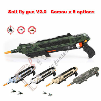 8 Camouflage Salt Gun Insect Killer lawn garden Shooter Buster Fly Bug Flies Mosquito laser aiming sight pepper Blaster Toy gift adjustable mandoline slicer professional grater
