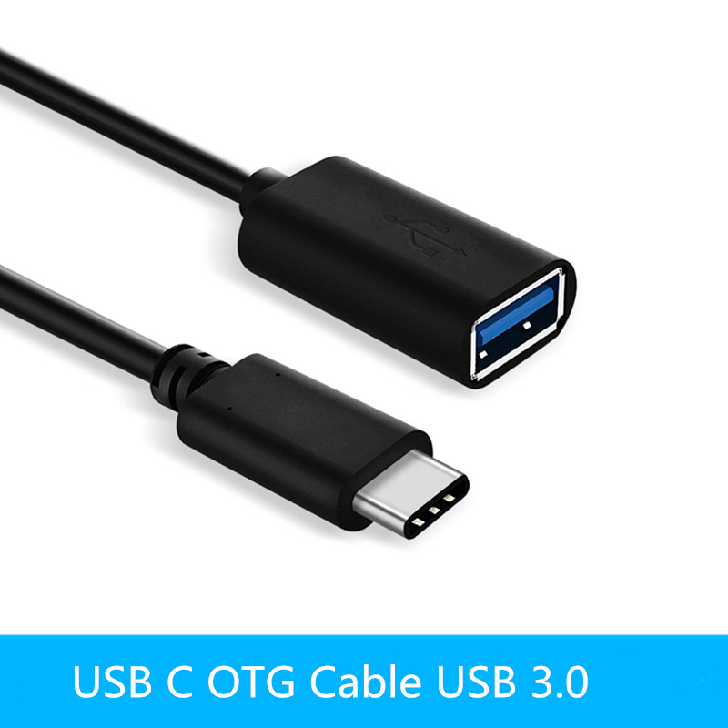 USB C OTG Cable USB 3.0 OTG Adapter Type C OTG For Samsung Galaxy S8 S9 HUAWEI P10 P20 Mate10 Pro Macbook USB OTG 20CM
