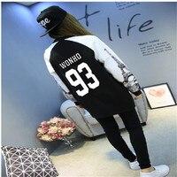 MONSTA X KPOP Member Name Print Sweatshirt Women Harajuku Hoodies Long Sleeve Fleece Tracksuit Sudaderas Mujer 2018 k pop k pop