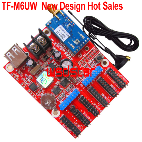 TF TF M6UW WIFI communication LED controller card 1536 32 pixel 768 64 pixel Support Single