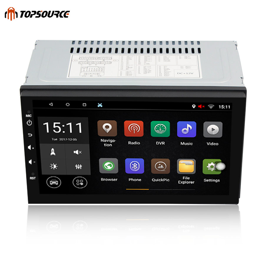 TOPSOURCE 7 Универсальный 2 din android dvd плеер автомобиля gps + Wifi + Bluetooth + радио + 4 ядра 1024*600 экран стерео радио 7003