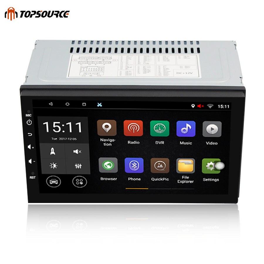 TOPSOURCE 7 Universel 2 din Android lecteur DVD de Voiture GPS + Wifi + Bluetooth + Radio + Quad Core 1024*600 écran de voiture stéréo radio 7003