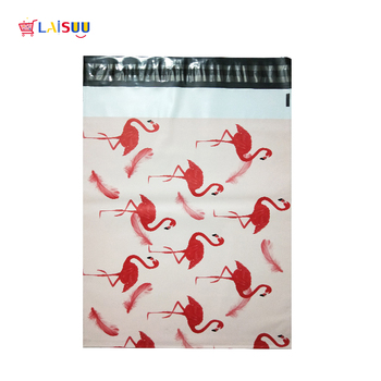 100PCS 32*40cm 12.5*15.7 inch Fashion Pink Flamingo pattern Thicken Poly Mailers Self Seal Plastic mailing Envelope shipping Bag 1