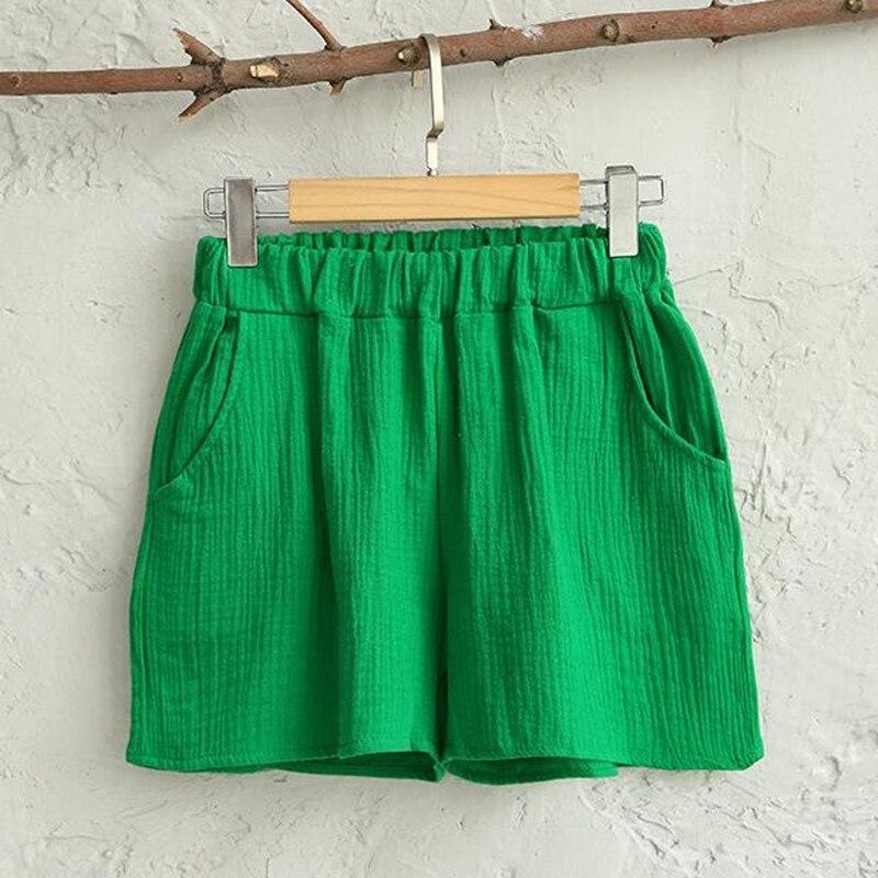 Hotsale Women Summer Casual Cotton Linen Shorts Solf Famme Loose Soft Cotton Linen Elastic Waist Short,plus Size Short Pannts M-