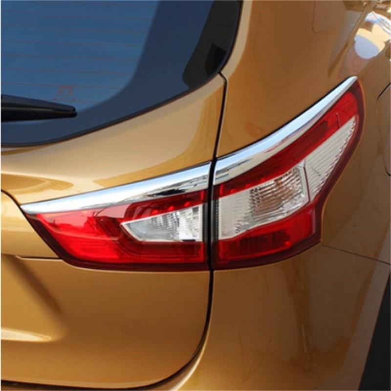 ABAIWAI Car Modification Tail Headlights Chrome Sticker For Nissan Qashqai Auto Trim Automotive Supplies 2014 to 2016 2017 4pcs