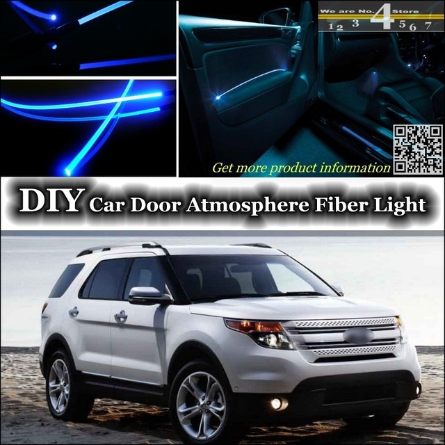 For Ford Explorer Interior Ambient Light Tuning Atmosphere Fiber Optic Band  Lights Inside Door Panel Illumination