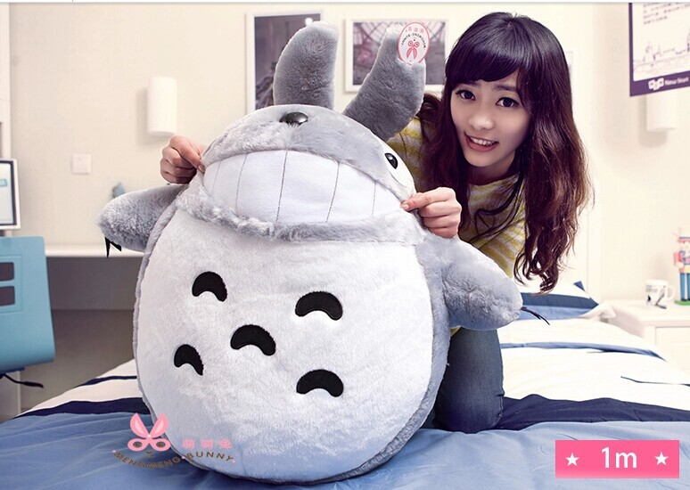 large 90cm totoro  laugh expression, doll plush Toy birthday gift w4147 lovely panda in pink dress big 90cm plush toy panda doll soft throw pillow proposal birthday gift x030