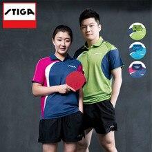 Футболка Stiga для настольного тенниса, одежда для пинг-понга, спортивные футболки с коротким рукавом для мужчин и женщин, Джерси