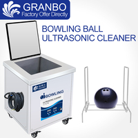 Ultrasonic Bowling Balls Cleaner 33L Golf Sport Club Use Cleaning Machine 600W Digital Heater Special Ball Basket Sound Proof