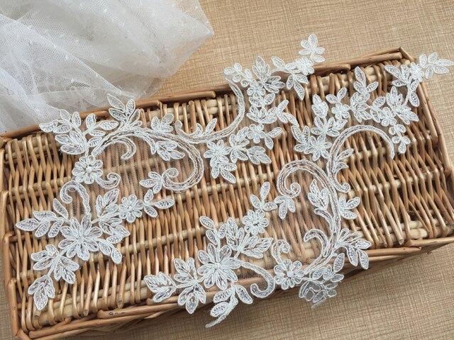 The unique flower pattern of flower applique lace embroidery cording