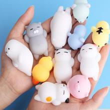 Funny Gift Cute Anti-stress Squishyly Toys Lovely Soft Silicone Hand Squeeze Baby Toy Kawaii Squishes Animals Bear Rabbit 30