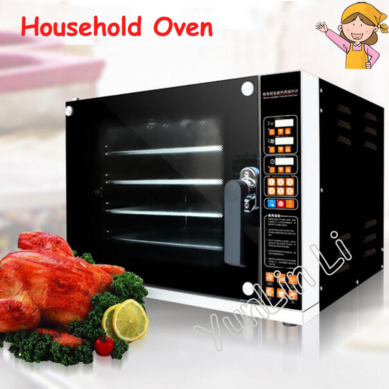 60L Electric Oven Commercial Baking Oven 220V 4500W Home Toaster Hot Air Circulation Household Large Capacity Oven CK02C t1 l101b home multifunction mini electric oven 10 liters home capacity double baked bit baking oven global free shipping