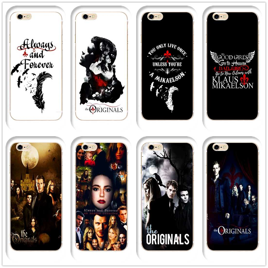 09f09aff49 DK Always and forever Elijah and klaus new phone case Cover Hard Transparen  for iPhone 6