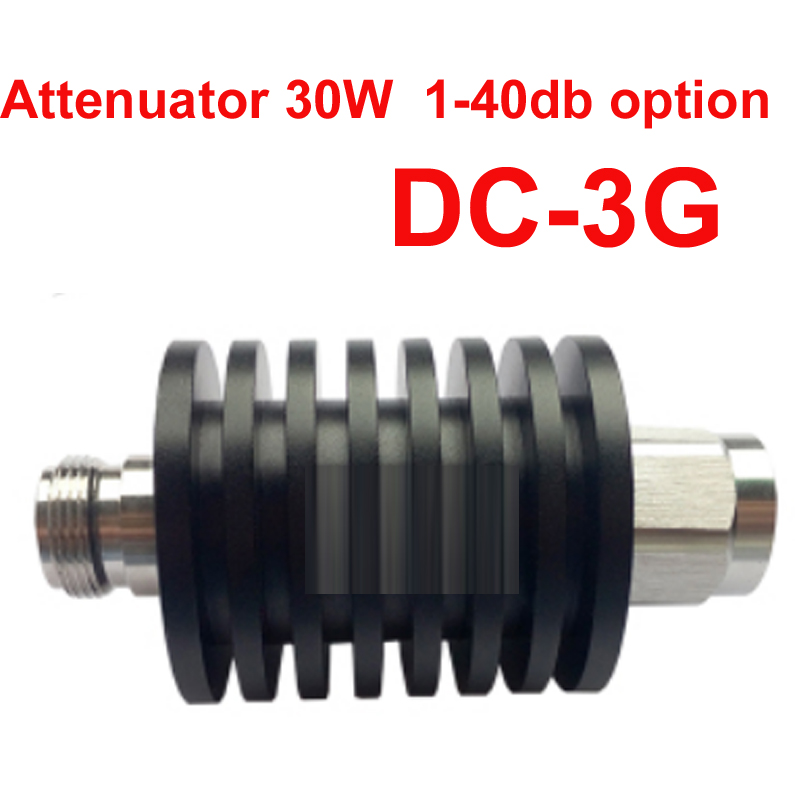 telecom use 30W RF attenuator DC-3G 1-40DB attenuation feeder connector RF COAXIAL jack 30W Attenuator communication parts