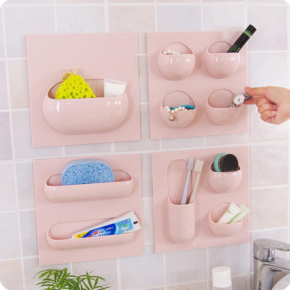 Creative Toothbrush Holder Bathroom Storage Shelf Cup Organizer Storage Rack Kitchen Accessories in Storage Holders Racks from Home Garden