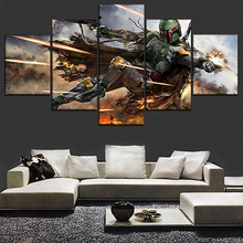 Science Fiction Movie Star Wars Modern HD Print 5 Piece Canvas Wall Art For Living Room Painting