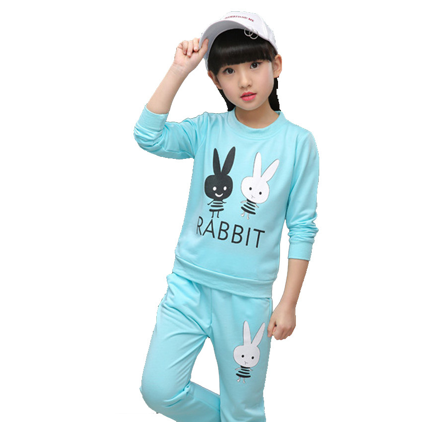 Kids Clothing Sets for Girls Sports Outfits Children Clothes Sets Girls Cartoon Tops & Pants Suits Autumn 10 12 Years Tracksuits 2017 children clothing sets cartoon cats sets pants children clothing set girls clothes fashion designs nova kids clothes sets