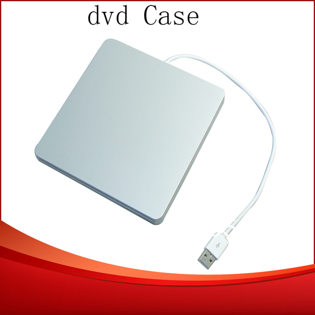 Free shipping External 9.5MM USB 2.0 Slot in Enclosure SATA CD/DVD RW Case For Apple Macbook