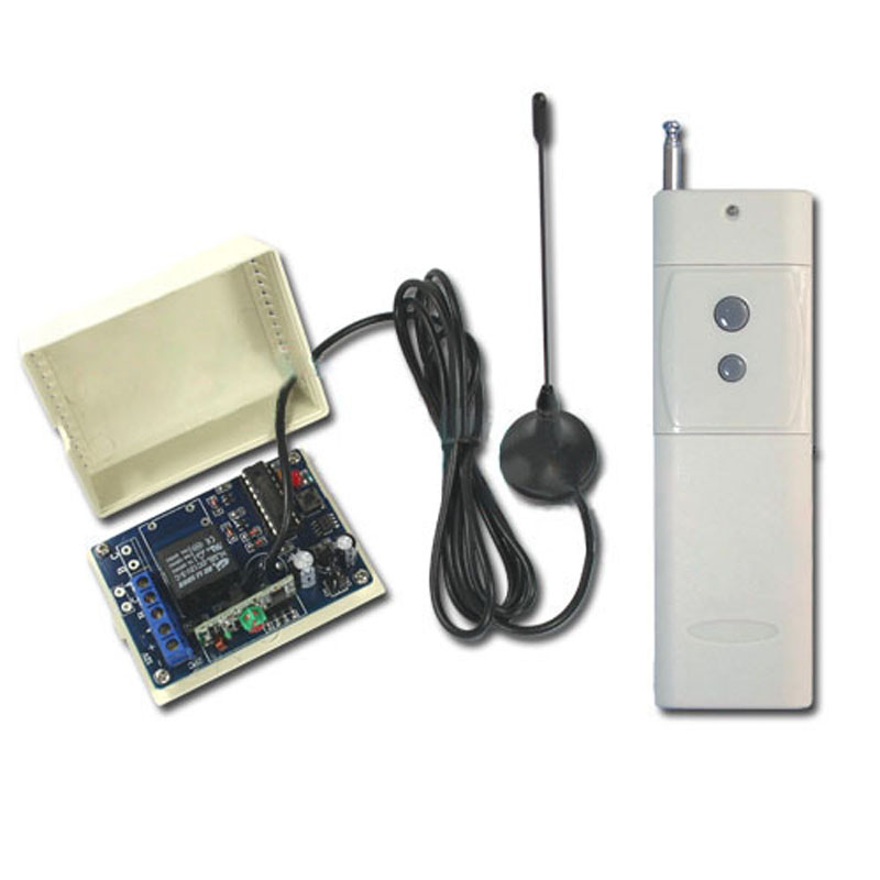 3000M DC12V 10A 1CH 315 433MHz RF Wireless Remote Control Power Switch Radio Controller Transmitter Receiver