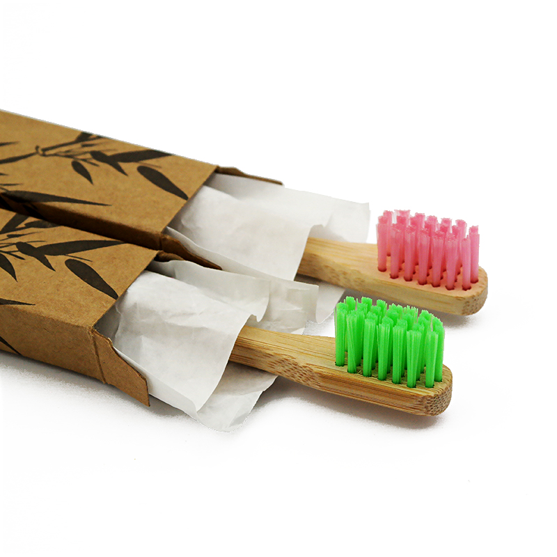 Very Cheap Colorful Bamboo Toothbrush Oral Care Soft Bristle Bamboo Handled Toothbrush (1pcs/lot) image
