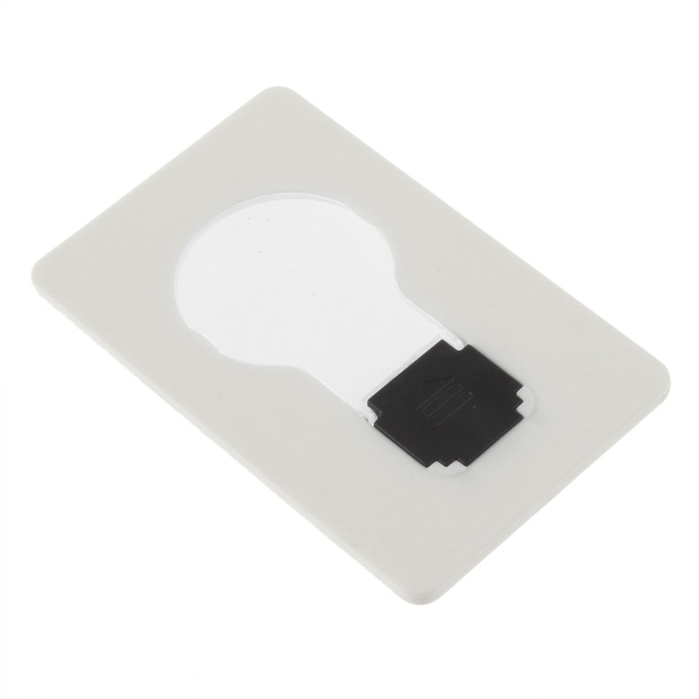 Portable Pocket LED Card Light Lamp Put In Purse Wallet