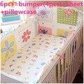 Promoción! 6 unids cuna cuna ropa de cama, venta al por mayor y al por menor cuna establece, accesorios para bebés cama, incluyen ( bumpers + hojas + almohada cubre )