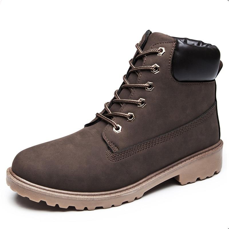 Home Begeistert Männer Stiefel Mode Herbst Winter Schuhe Für Männer Stiefeletten Plüsch Größe 37-46 Botas Hombre Gummi Mann Booties Casual Männlichen Schuhe