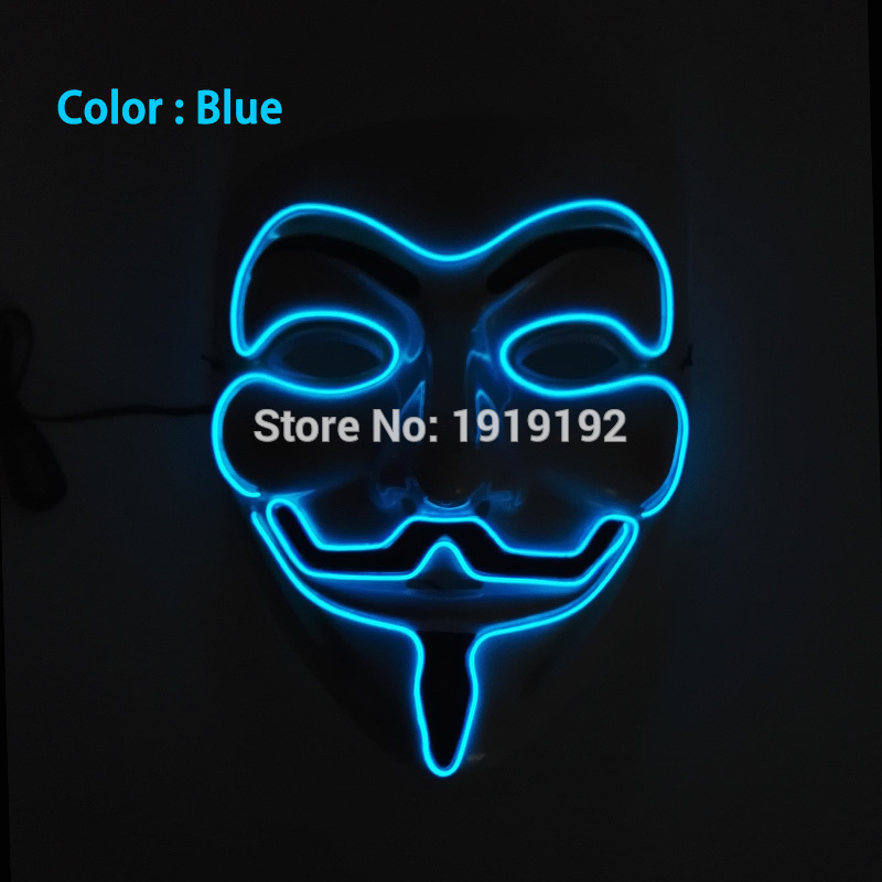 New style 10 color select cosplay EL Wire Light Up dj dance led V ...