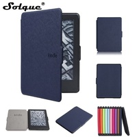 New For Amazon Kindle 2016 Kindle 8th Ultra Slim PU Leather Ebook Case Cross Texture Hard