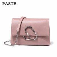 Бесплатная доставка, паста сумка 100% мягкая натуральная кожа OL стиль женские сумки дамы Bolso сумки на плечо маленькая сумка