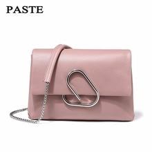Free Shipping, PASTE Shoulder Bag 100% Soft Genuine Leather