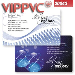 Pvc white plastic  hypnotizes silver beads light Printing business card a2043 design card template