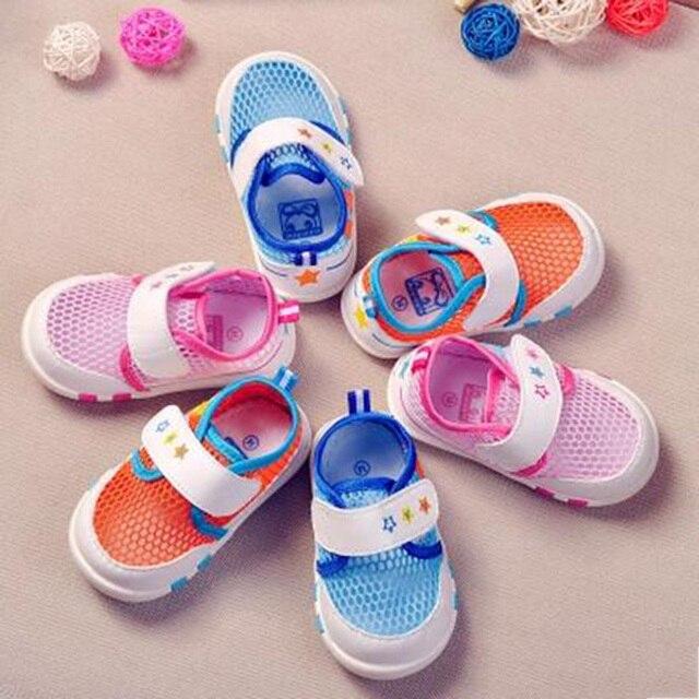 Первые Ходоки Малыша Обувь Воздуха Сетки Младенческой Мальчики Девушка Infatil Sapatos Холст Кроссовки Детские Летние Обувь Для Малого 503170