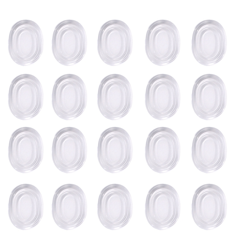 Drum Dampeners 20 Pieces Clear Damper Gel Pads Non-Toxic Soft Drum Damper Tone Control For Your Drum