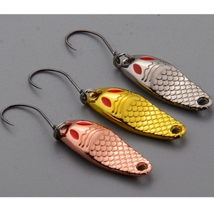 Image 2 - 3 stück 3 Farben Sirajiong Zink legierung Kleine Löffel Fischerei locken 1 g 2g 3,5g Süßwasser Karpfen Angeln angelgerät Isca Künstliche Pesca