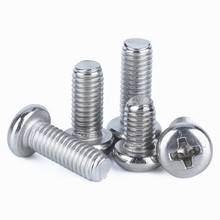 100pcs Pm2/3 M2 M3 Iso7045 Din7985 Gb818 Nickel Plated Cross Recessed Round Pan Head Pm Screws Phillips